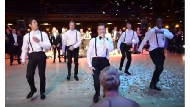 Local newlyweds' video of groomsmen's dazzling dance routine goes viral