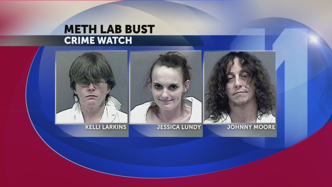 3 charged after active meth lab found at Kingsport apartment