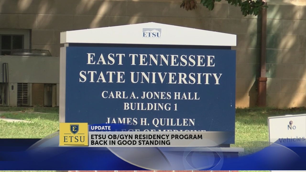ETSU OBGYN department no longer on probation