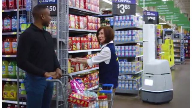 Walmart testing out robots to scan aisles