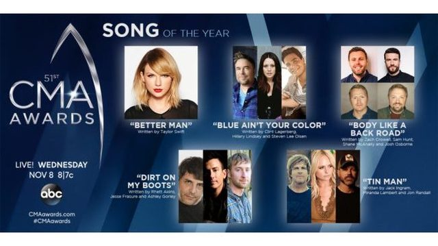 CMA Awards: Song of the Year nominees