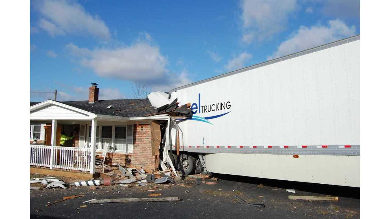 Tractor-trailer crashes into home in Carroll County, VA