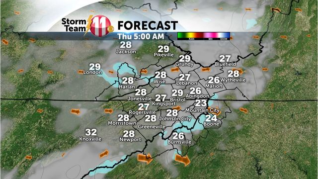 Mark's Weather Blog: Cold with snow showers tonight.  Rain and snow this weekend.