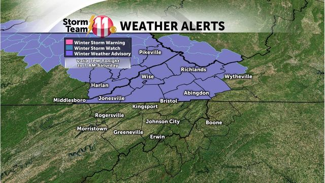 Mark's Weather Blog:  Snow Advisories tonight - An active weather weekend ahead!