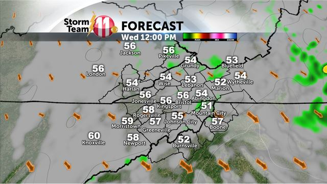 Mark's Weather Blog:  Showers overnight and Wednesday morning - Temperatures warm this weekend!