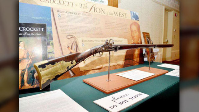 Davy Crockett's historic rifle to go on display at state park