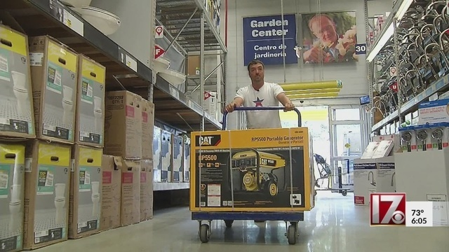 Raleigh, NC store sells 100 generators in a half day as Hurricane Florence lurks offshore