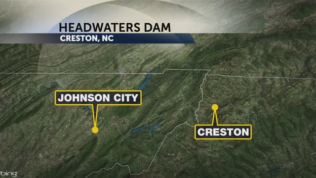 Creston Nc Map.Ashe County Ema Headwaters Dam Ok After Report Of Breach Potential