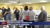 First early voting figures show strong turnout locally, statewide