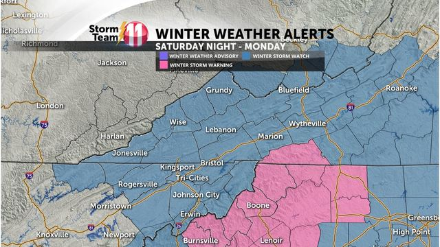 Tri-Cities region wintry mix turning into snow with significant accumulations likely this weekend