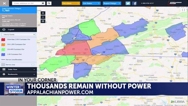 Appalachian Power Outage Map on