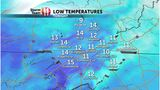 Forecast: Bitter Cold Again Tonight With More Seasonable Highs Tomorrow