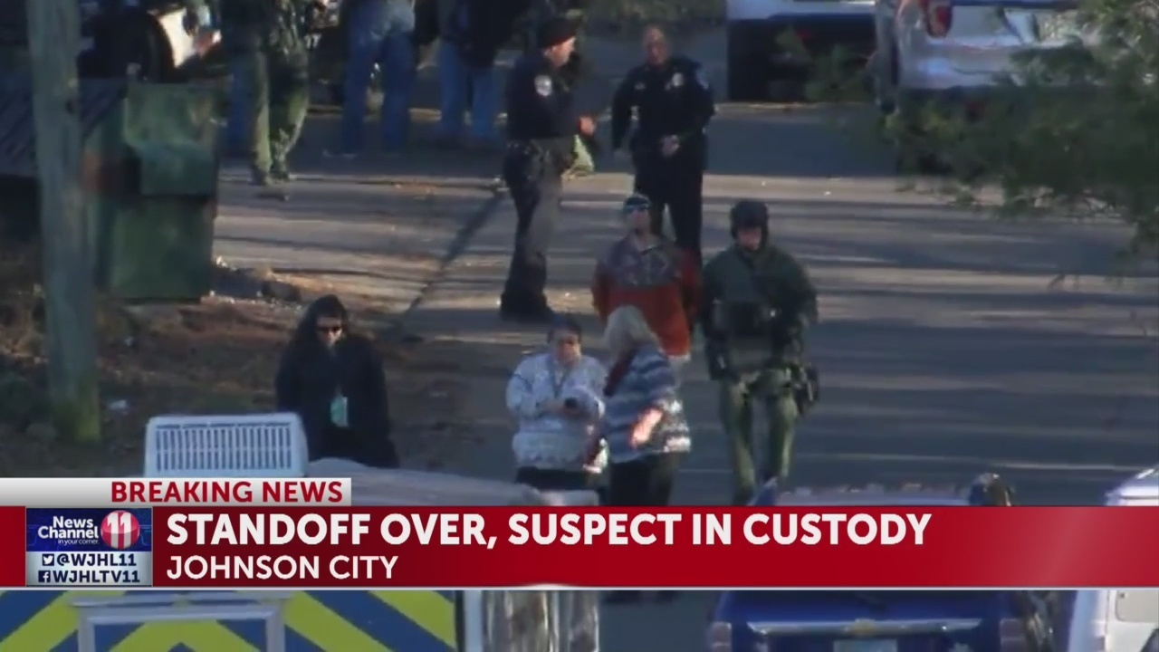 suspect taken into custody after standoff in johnson city