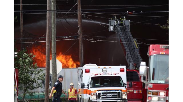 Investigators: Forklift backfire caused massive Knoxville recycling plant fire